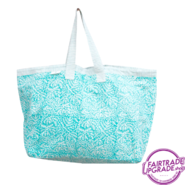 Shopper Strandtas Floral Bleu FairtradeUpgrade