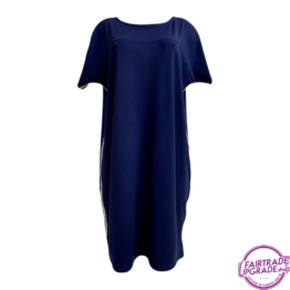 T Dress navy voorkant FairtradeUpgrade