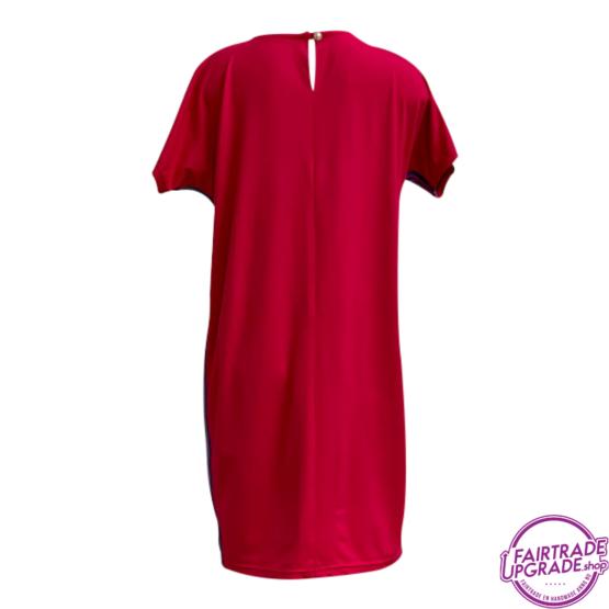 T Dress pink chique achterkant FairtradeUpgrade