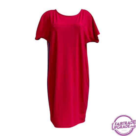 T Dress pink chique voorkant FairtradeUpgrade