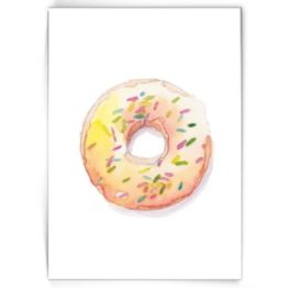 Kaart donut with sprinkles-Made by Marcelle bij FairtradeUpgrade