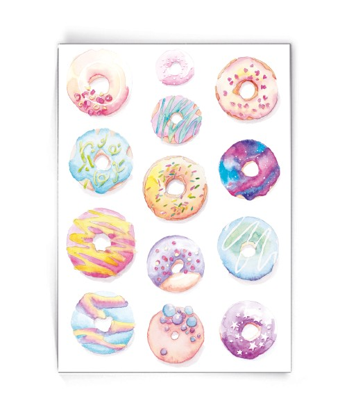 Kaart donuts - Made by Marcelle bij FairtradeUpgrade