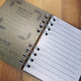 Notitieboek Komoni Binnenkant bij FairtradeUpgrade