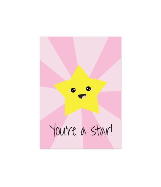 Vrolijke wenskaart You're a Star bij FairtradeUpgrade