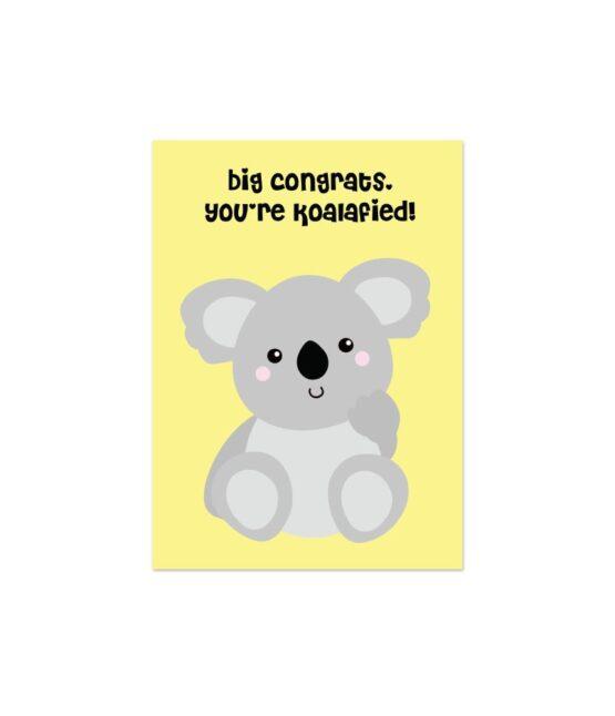 Vrolijke wenskaart You're Koalafied bij FairtradeUpgrade