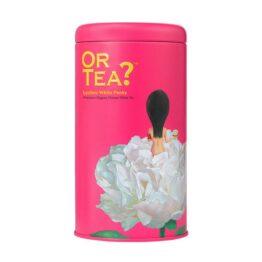 Blik losse thee Lychee White Peony bij FairtradeUpgrade